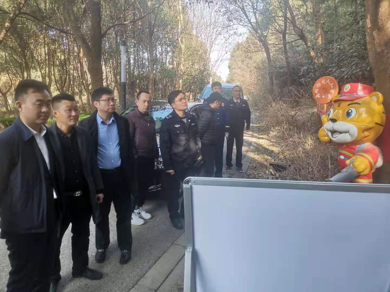 惠山区自规局杨燕敏局长带队检查阳山森林防